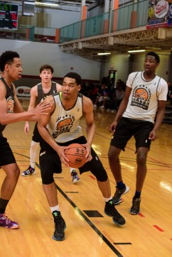 Garrison Brooks eyes his commitment.
